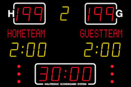 NA1630-IT - Indoor Nautronic scoreboard system for mulitsport