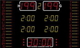 NA2654-16 Nautronic indoor scoreboard for basketball and handball