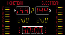 NA2654T Nautronic indoor scoreboard for basketball