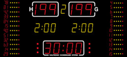 NA2654 Nautronic indoor scoreboard basketbal