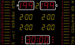 NA2655-16 Nautronic indoor scoreboard for basketball and handball