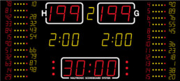 NA2655 Nautronic indoor scoreboard for basketball